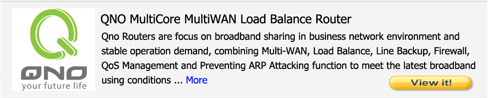 QNO MultiCore MultiWAN Load Balance Router