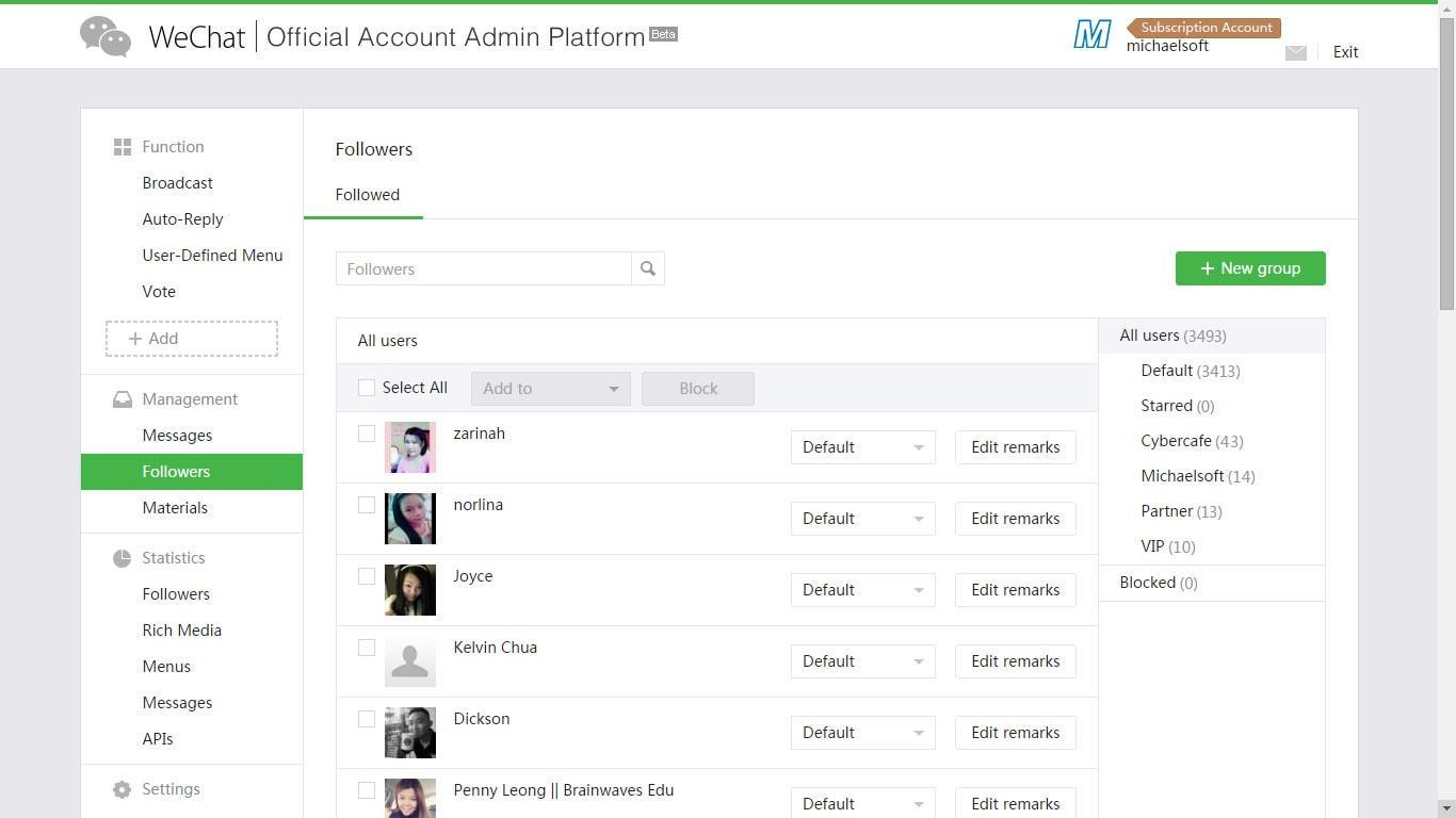 WeChat Admin Platform