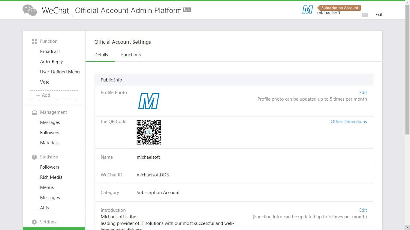 WeChat Tracking